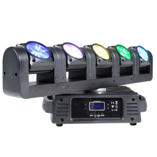 5 x 10W Beam Moving Head Bar